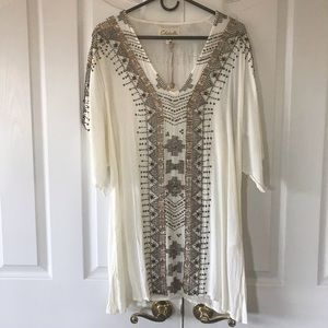 Cleobella Maya Kaftan Dress - color is Ivory